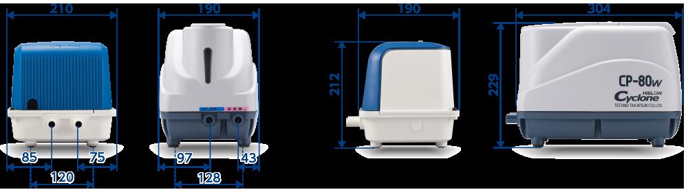テクノ高槻 ブロワ DUO CP 外形比較
