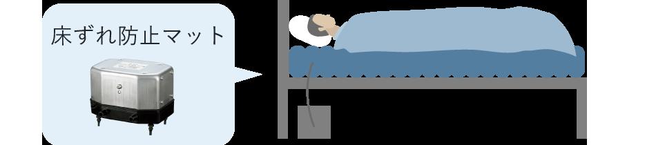 床ずれ防止マットに搭載されているエアーポンプ