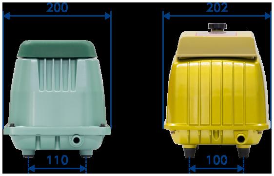 テクノ高槻 ブロワ HP GJ-H 外形比較