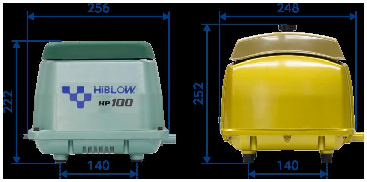 テクノ高槻 ブロワ HP GJ-HGJ-H外形比較
