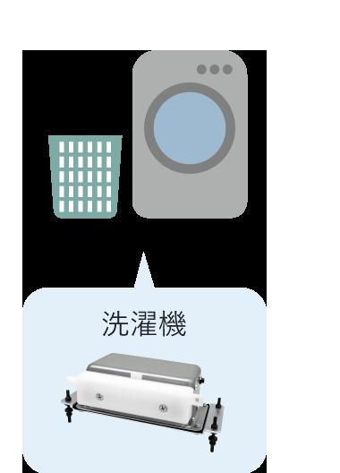 洗濯機に搭載されているエアーポンプ